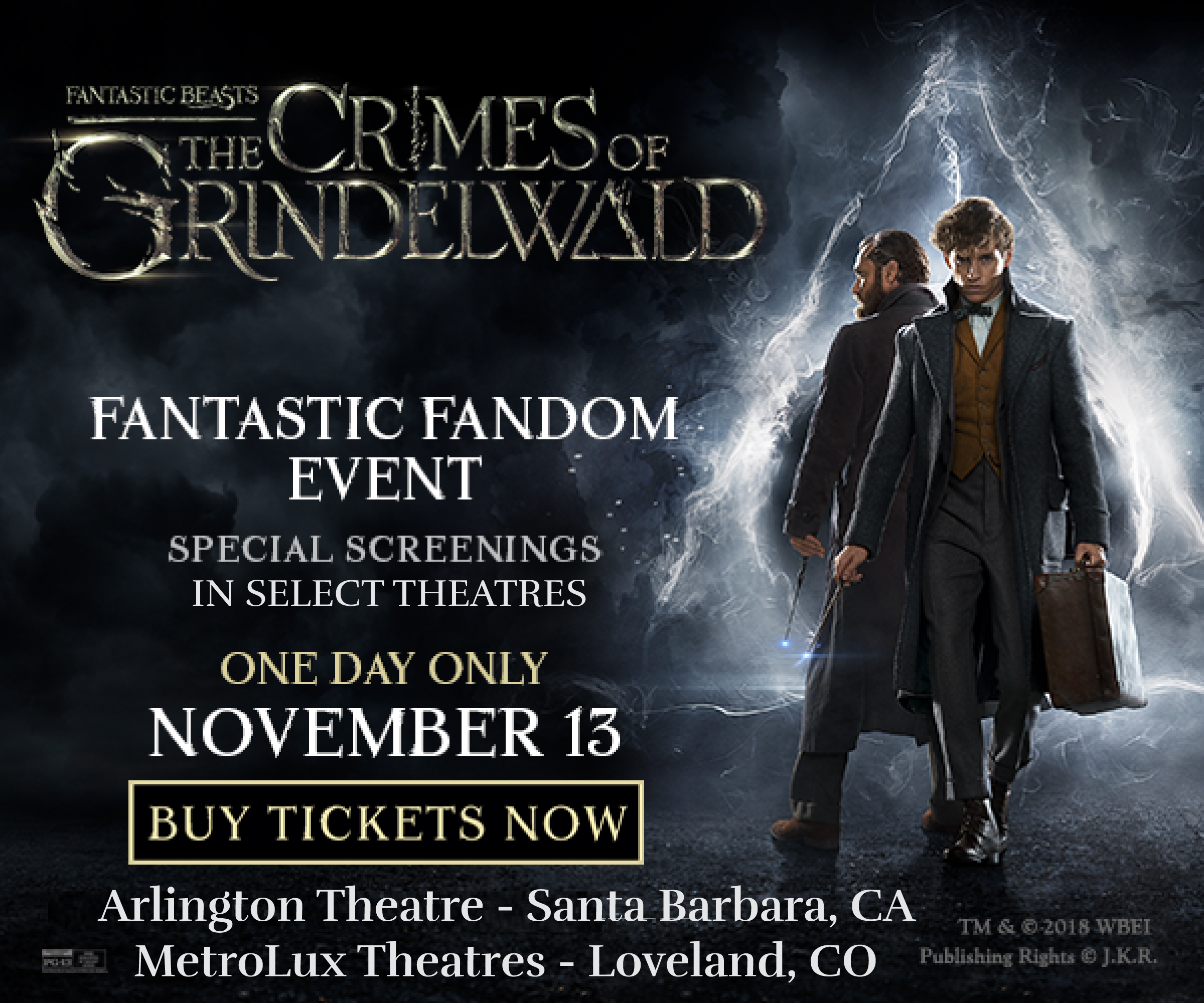 Fantastic Fandom Event! Fantastic Beasts: The Crimes of Grindelwald