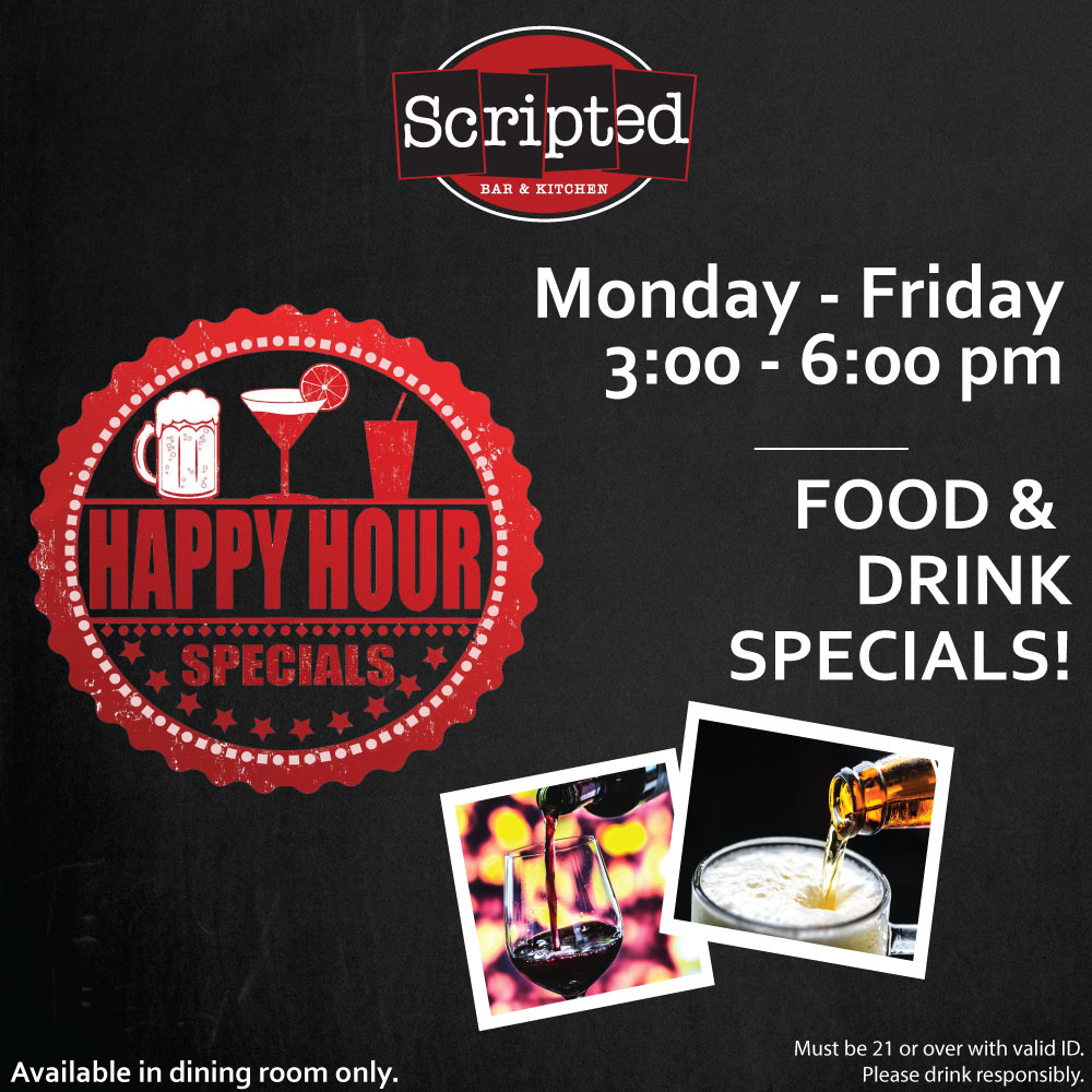 Happy Hour at Scripted Bar & Kitchen