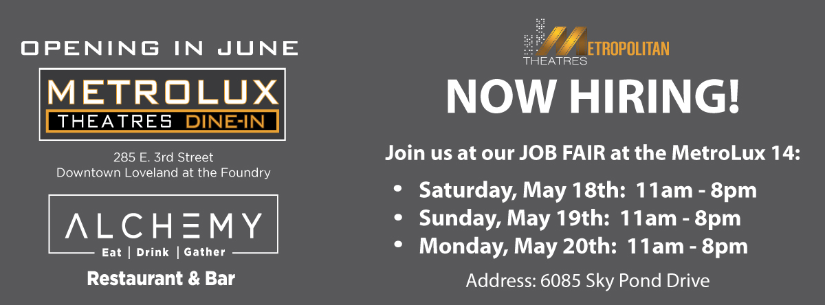 MetroLux Dine-In Theatres Job Fair