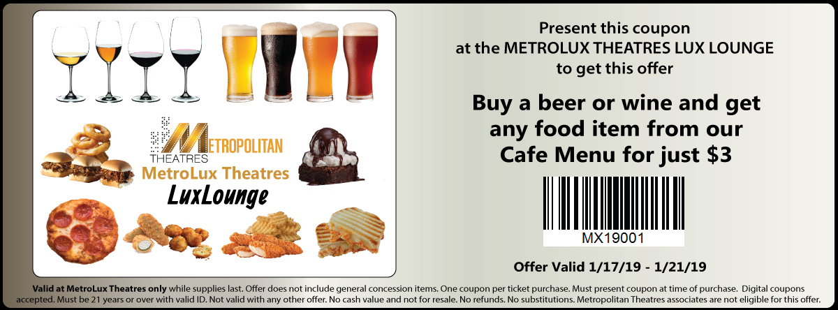 MetroLux Food & Beverage Coupon