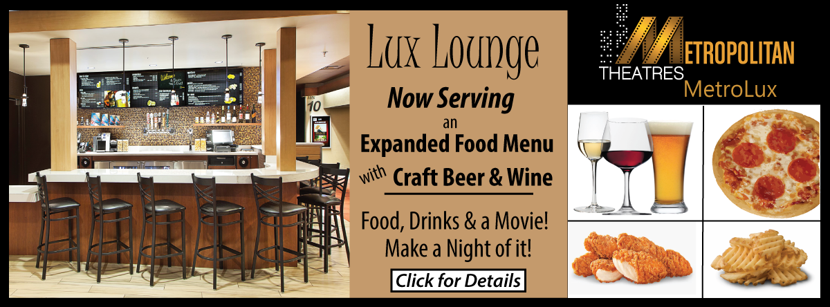 MetroLux serving beer, wine and expanded food menu at LuxLounge