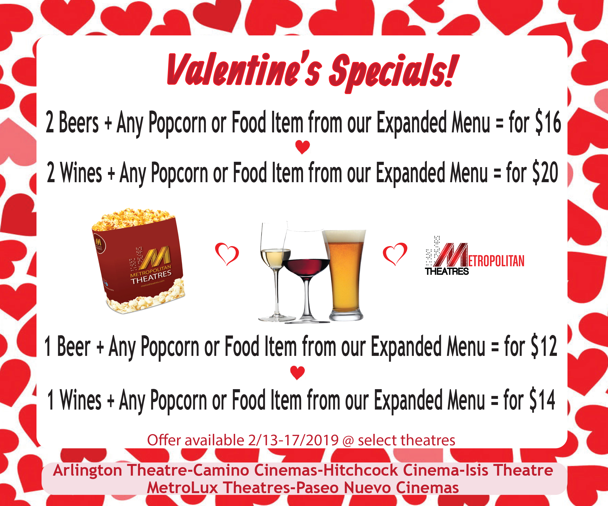 Valentine's Concessions Specials
