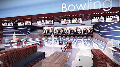 Pell City Bowling Alley Artist Render