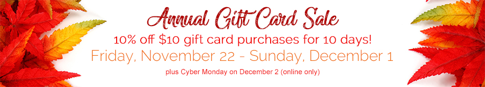 Banner image for annual gift card sale