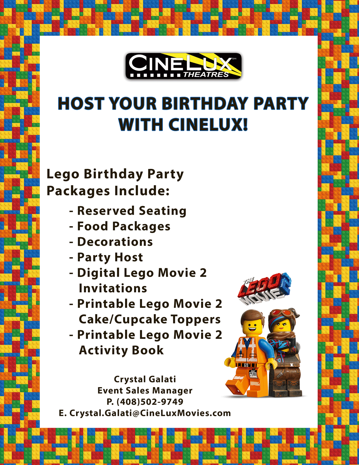 Host your party at cinelux!
