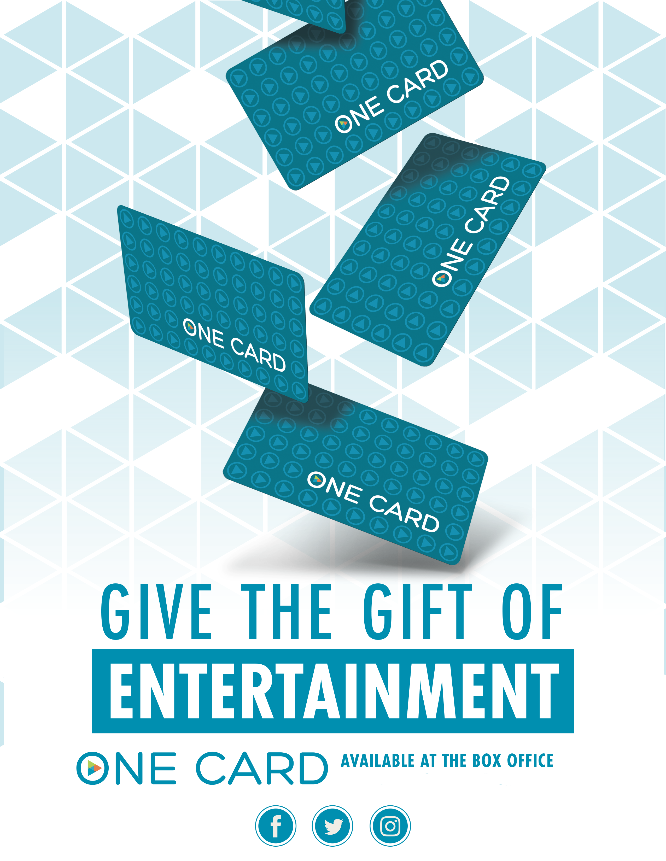 ONECard gift cards can be purchased or reloaded at the box office of your local EVO Cinema.