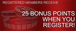 Registered members receive 25 Bonus Points when you register