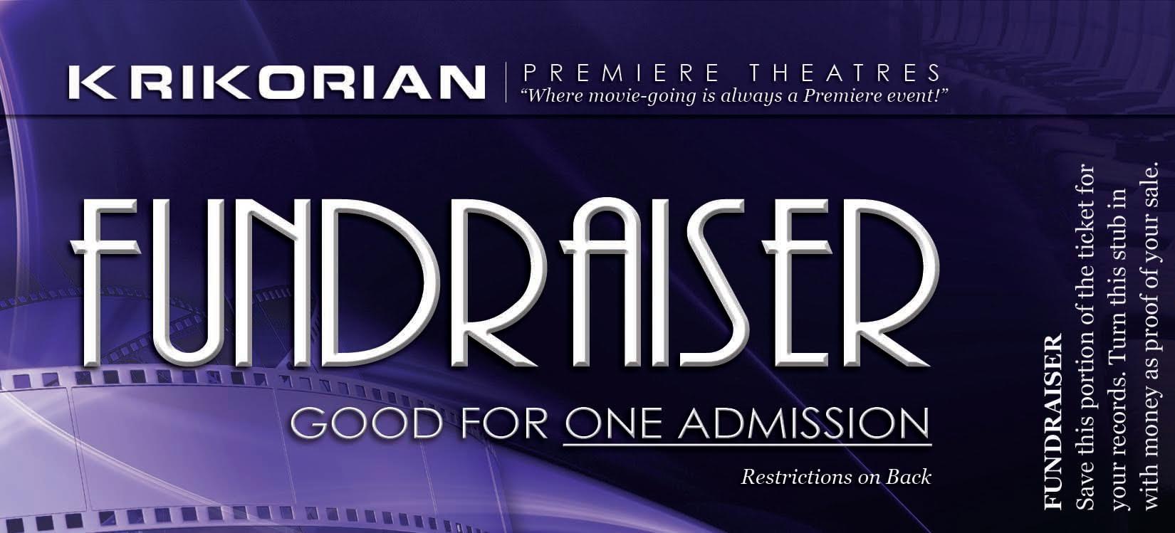 krikorian premiere theatres fundraiser tickets