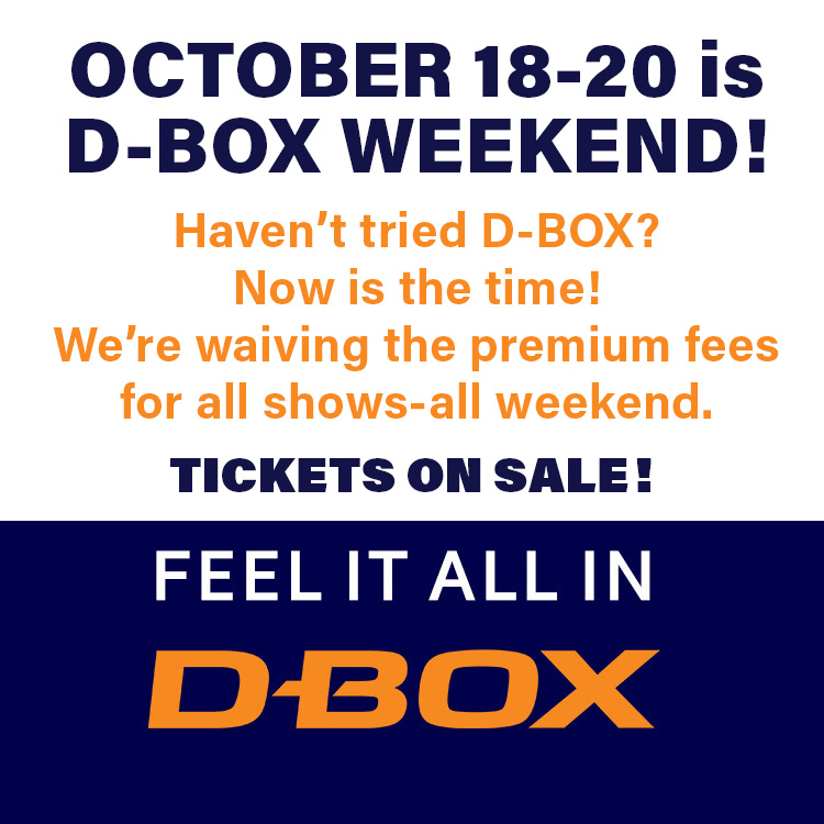 Mobile hero image for D-BOX WEEKEND
