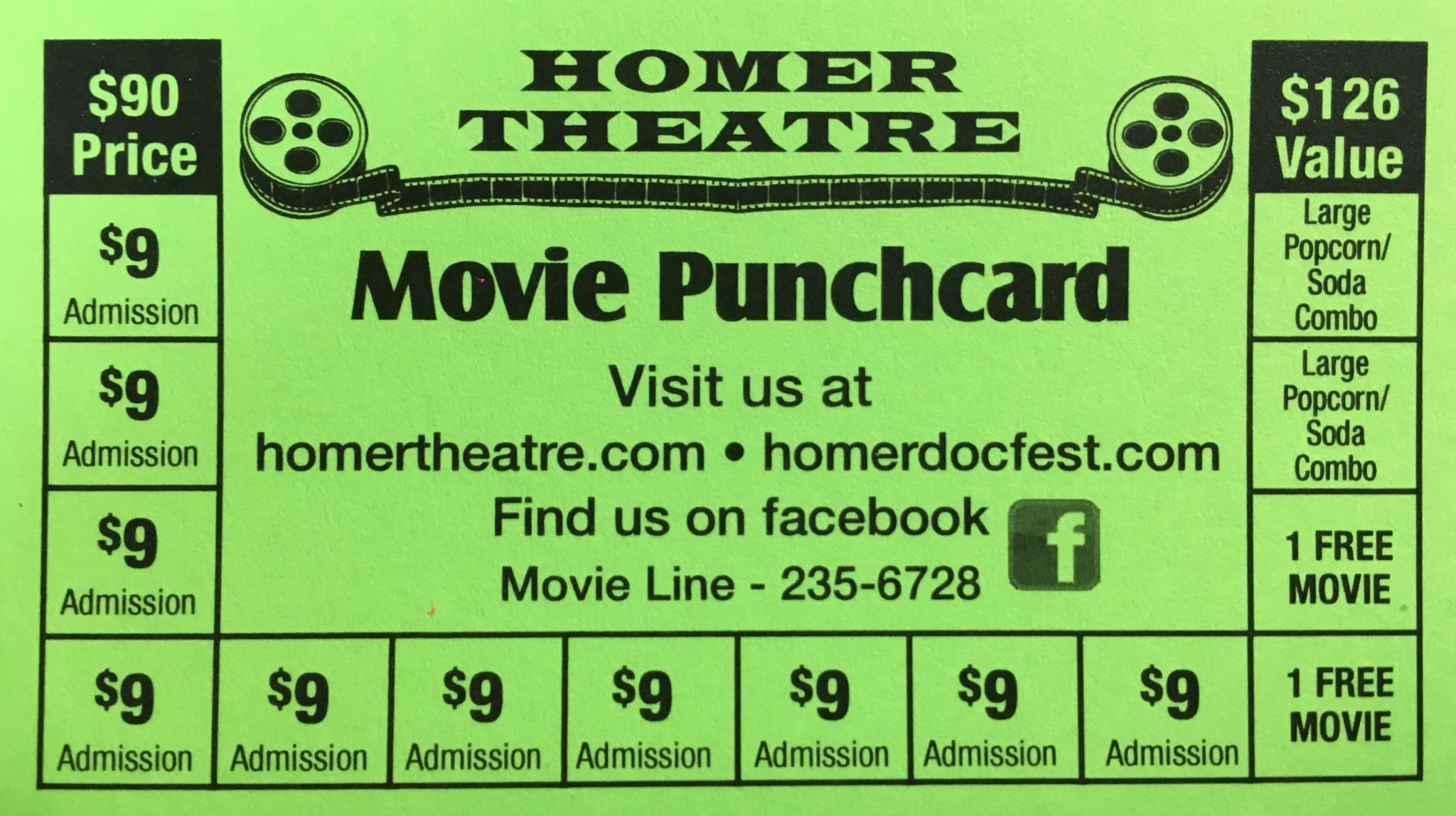 $35 Punchcard